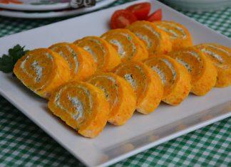 Havuçlu Rulo Kek Salatası